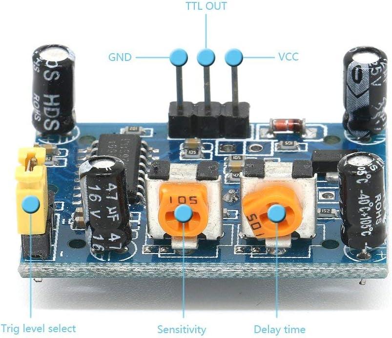 ICQUANZX 5Pcs HC-SR501 Einstellbare IR Pyroelektrische Infrarot PIR Bewegungsmelder Detektor PID Module f/ür Arduino /& Raspberry Pi Projekte