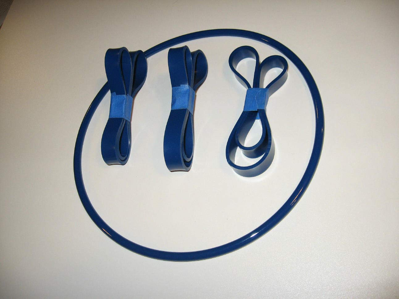 BLUE MAX ROUND DRIVE BELT AND 3 BAND SAW TIRES FOR TRADESMAN T7060 BAND SAW