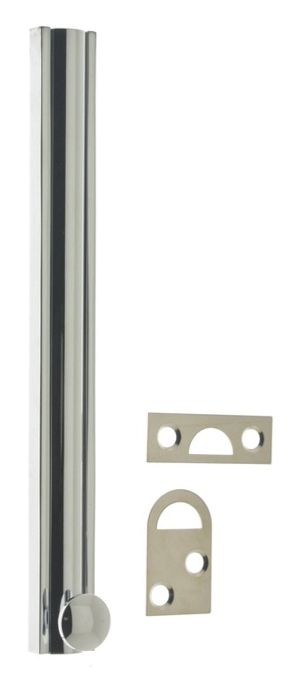 idh by St. Simons 11046-026 Professional Grade Quality Solid Brass 6'' Surface Bolt, 6-Inch, Polished Chrome