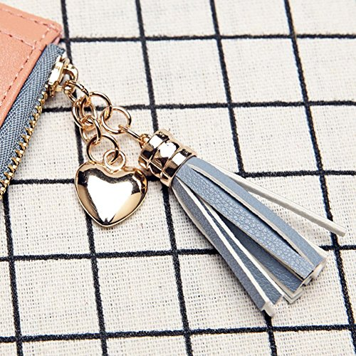 Women Purse Leather Coin Short Bifold Sweet Tassels Clutch Everpert PU Wallet Holder Purple w1AO6x