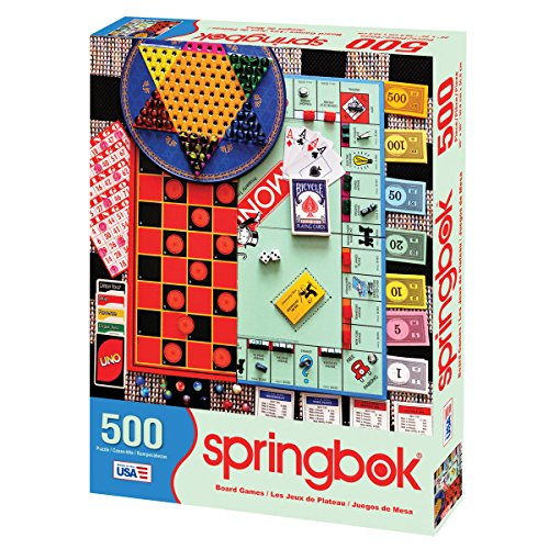 61fX6GR6LEL - Springbok Puzzles - Board Games - 500 Piece Jigsaw Puzzle - Large 20 Inches by 20 Inches Puzzle - Made in USA - Unique Cut Interlocking Pieces