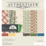 Authentique Paper ADV009 Bundle Cardstock Pad, 6 by 6-Inch, Adventure, 24-Pack