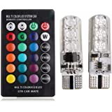 T10 5050 RGB Remote Control Car Led Bulb 6 SMD Multi color W5W 501 Side Light Bulbs Crystal Lamp