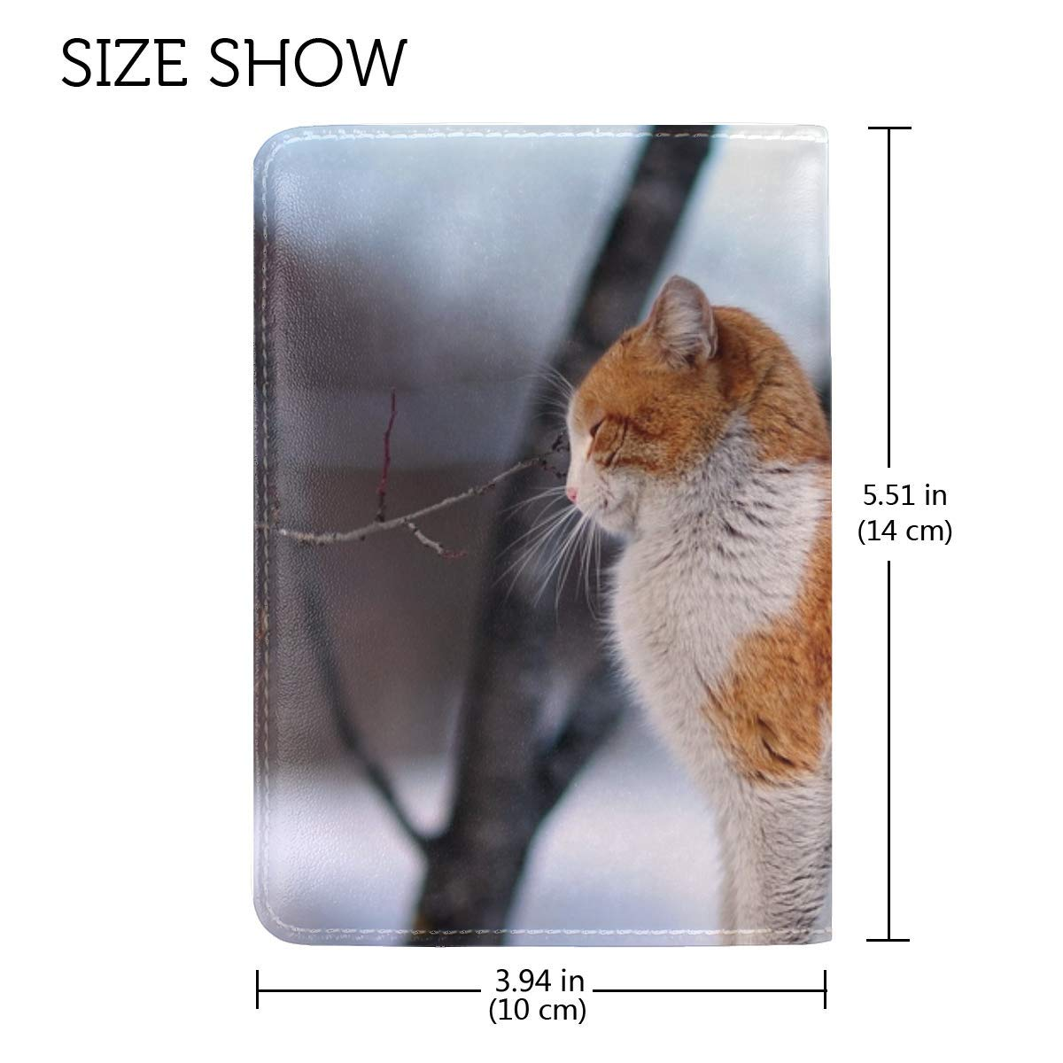 Cat Fence Winter Street Leather Passport Holder Cover Case Travel One Pocket