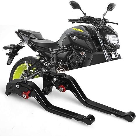Aolead Leva Freno Moto di CNC Alluminio per FZ6 FAZER 2004-2011,FZ6R 2009-2015,FZ8 2011-2015 MT-07//FZ-07 2014-2018,FZ-09//MT-09//SR Leve Freno Frizione Not FJ-09 2014-2017