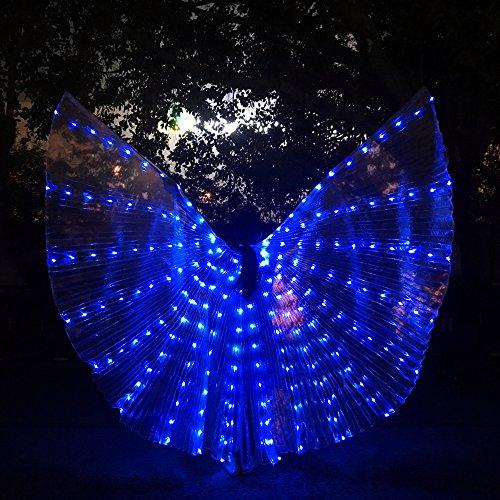 Shinyou Allumer D'isis Led Ailes Avec Ventre Costumes Cosplay Bleu Stick Lumière Danse Du HI0qrH