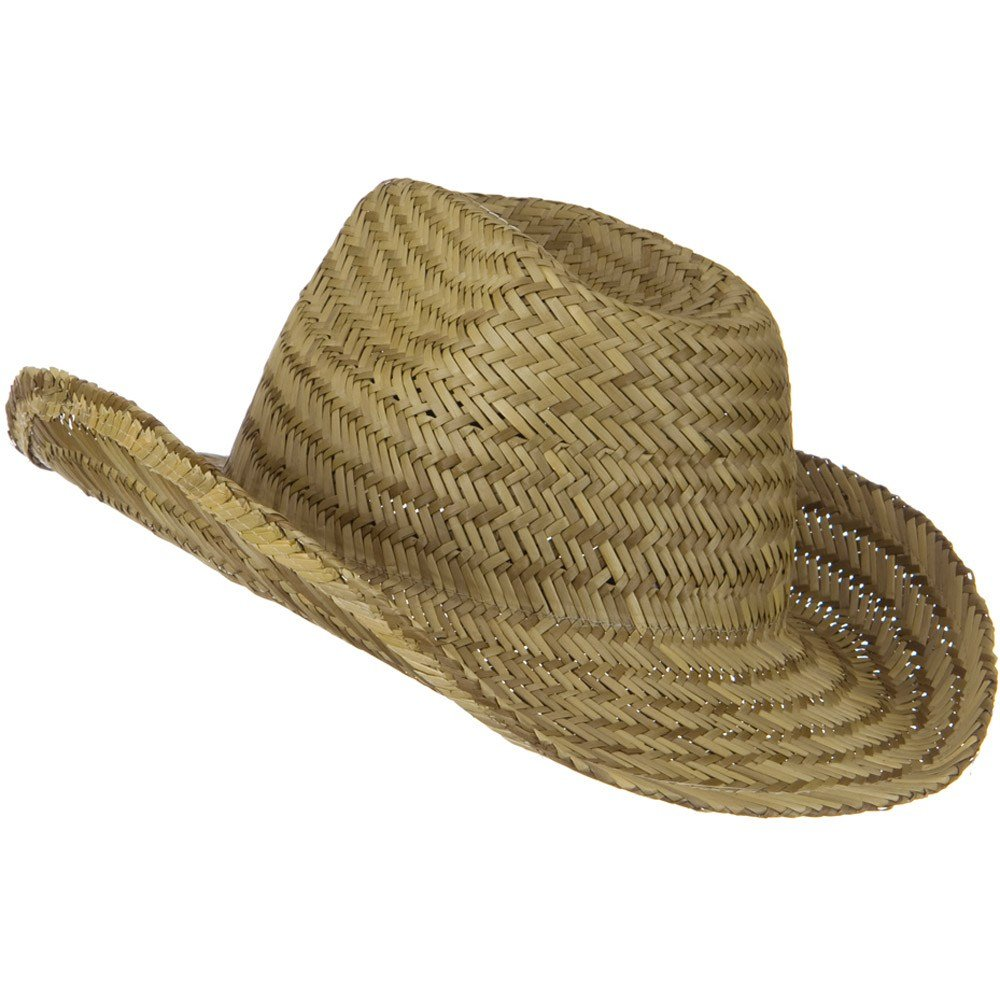 Natural W37S15B OTTO Dented Straw Cowboy Hat