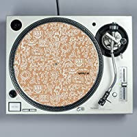 Turntable Lab Keith Haring Cork Record Mat - White