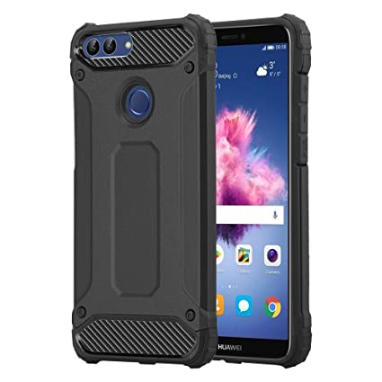 huge discount c6919 a2b18 HUAWEI P SMART Case, Rugged Tough Dual Layer Armor Case HUAWEI P SMART  Protective Case [Heavy Duty] [Slim Hard Case] Shockproof Case Cover for  Huawei ...