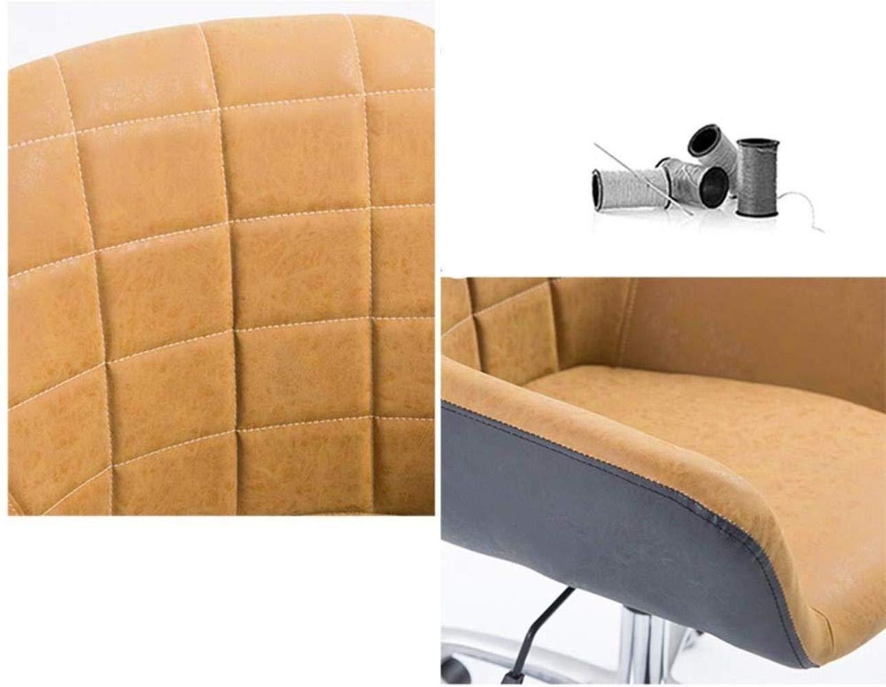 Barstolar THBEIBEI hem kontor skrivbordsstol spelstol datorstol uppgift skrivbord stol mottagningsstol böjt ryggstöd bärande vikt 200 kg flerfärgat valfritt (färg: Gul) Ljusgrå