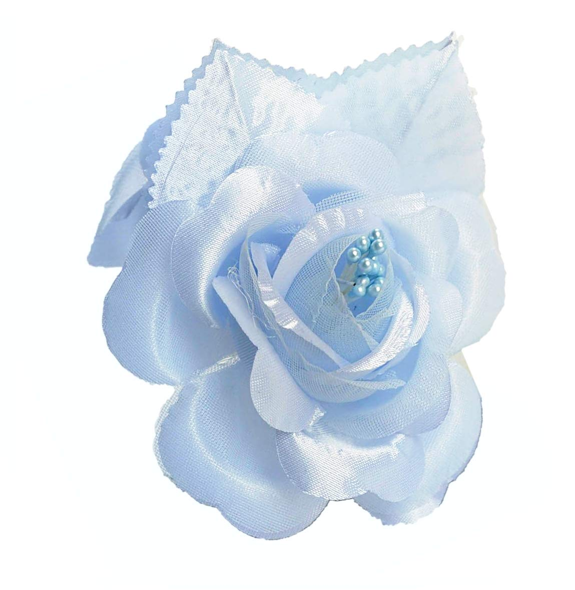 12-Silk-Roses-Wedding-Favor-Flower-Corsage-Pick-Light-Blue