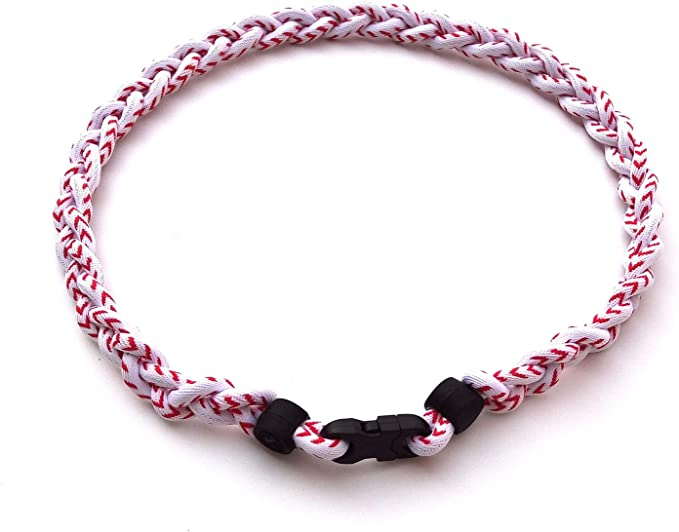 Happy Hour US 3 Rope Braided Tornado Titanium Sport Baseball Necklace 20 for Boys
