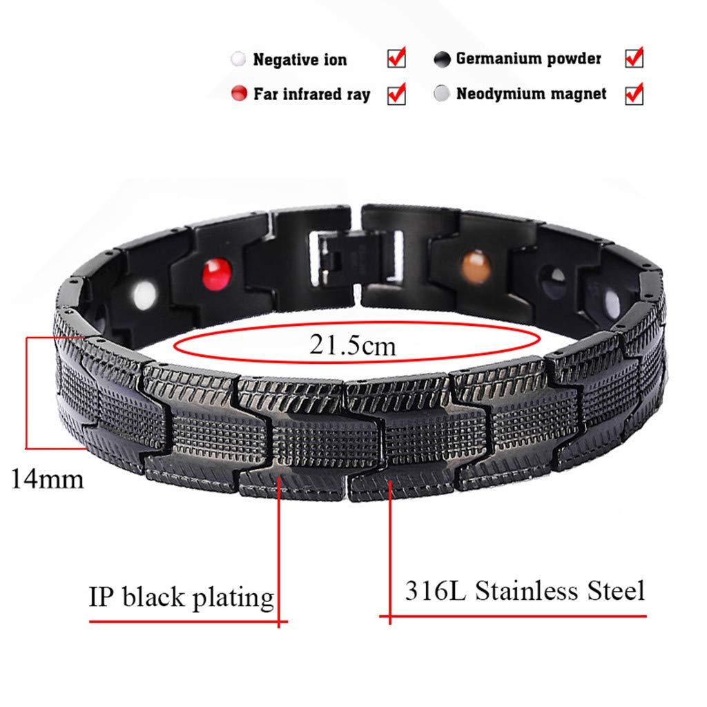 CMrtew Magnetic Bracelet for Men Hand Chain Black Healing Energy Titanium Stainless Steel Health Bracelets Bangles