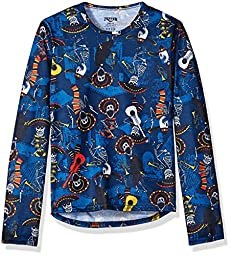 Hot Chillys Youth Pepper Skins Print Crewneck, Mariachi-Navy, Large