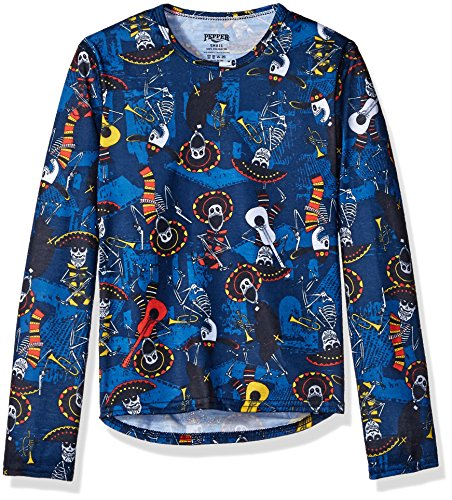 Hot Chillys Youth Pepper Skins Print Crewneck, Mariachi-Navy, X-Large by Hot Chillys