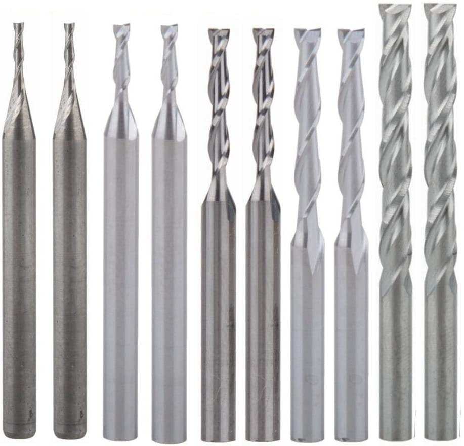 """10 x 0.08/"""" 2mm Carbide Milling Cutter Engraving Bits for CNC//PCB Machinery"""