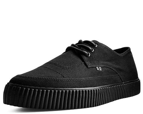 Ezc Básico Negro Mujeres De T.U.K. Shoes Hombres Puntas Y Cordones Zapatillas De Enredadera: Amazon.es: Zapatos y complementos