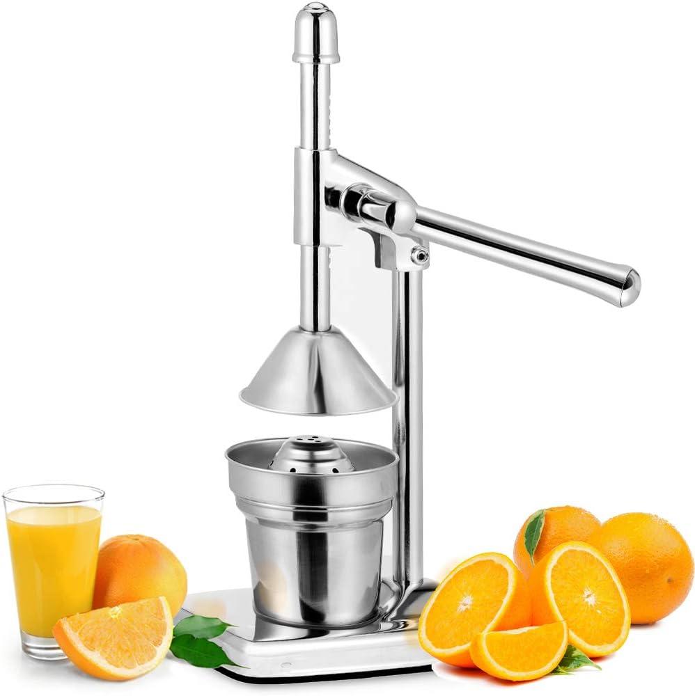 Compra Deuba Exprimidor manual de frutas de acero inoxidable con palanca extractor de zumo de limón cítricos accesorio en Amazon.es