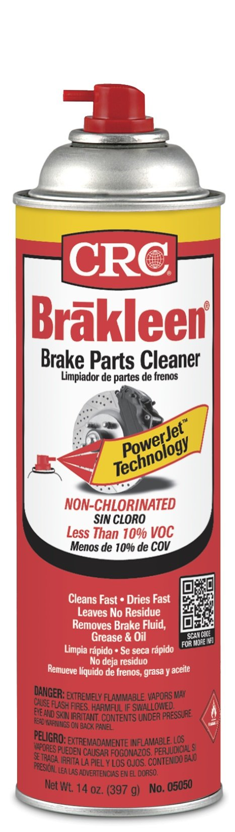 CRC 05050 Brakleen Non-Chlorinated Brake Parts Cleaner, 14 Wt Oz 12/EA by CRC