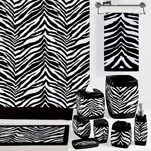 DS Bath Zebra Polyester Fabric Shower Curtain,Printed Shower Curtains for Bathroom,Contemporary Decorative Waterproof Bathroom Curtains,72