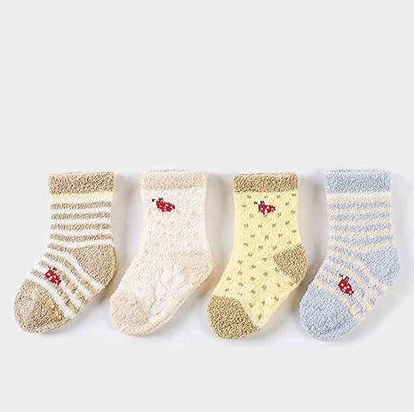CMDDYY Calcetines recién Nacidos, otoño e Invierno Grueso cálido ...