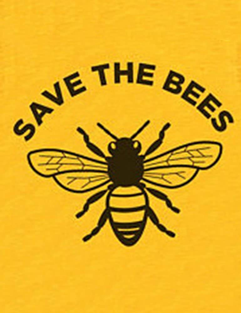 OUNAR Mujeres Save The Bees Camisetas Gráficas Abejas ...
