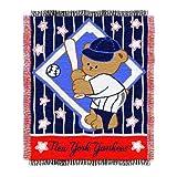 "MLB New York Yankees Original Woven Jacquard Baby Throw, 36"" x 46"""