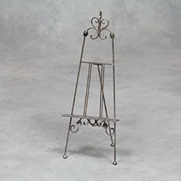 High Quality Table Top Picture Stand Display Easel Picture Holder In Antique Silver