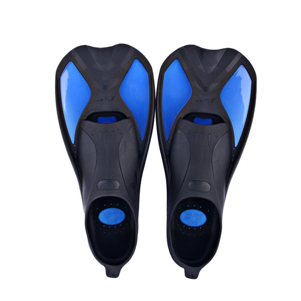 Gimitunus Short pinne da snorkeling e nuoto viaggio Flipper per nuoto e snorkeling, blu, XXS 34-35