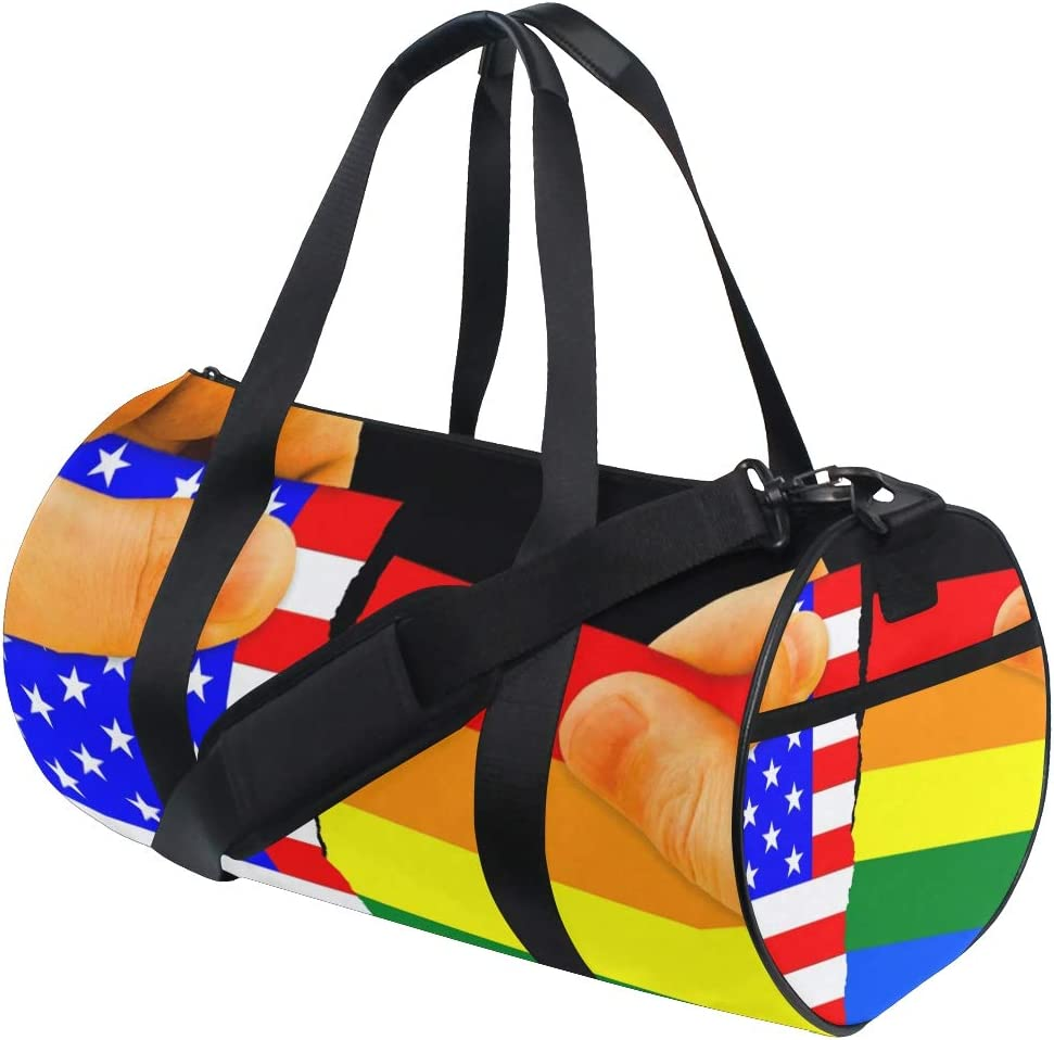 OuLian Gym Bag Very Happy Saint Patricks Day Women Canvas Duffel Bag Cute Sports Bag for Girls