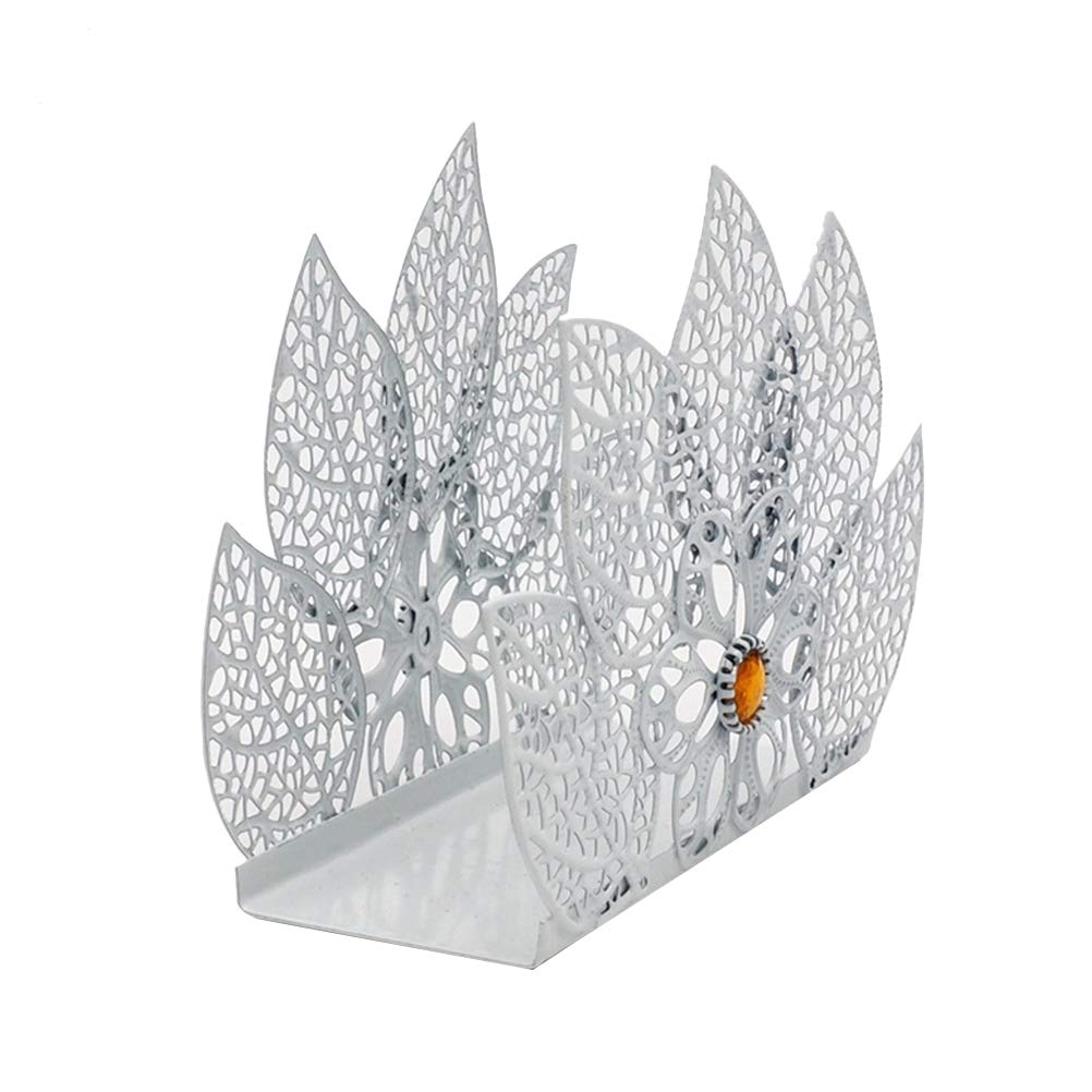 OUNONA Portatovagliolo Metallo Forma Poinsettias per Bar Matrimonio Decorazioni Natale tavola