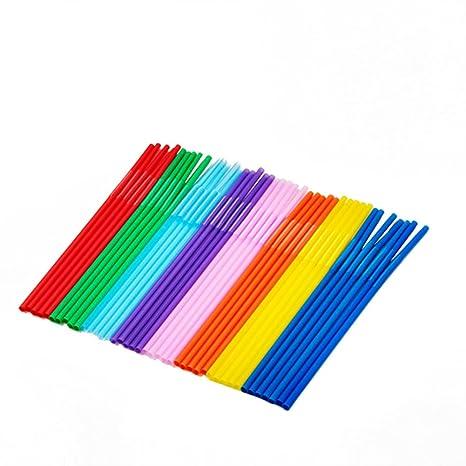 Kentop plástico desechables de tipos de pajita Knick Bar 100 unidades/juego