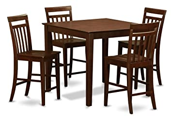 High Quality 5 Pc Counter Height Square Pub Table Set