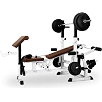 Klarfit Workout Hero 3000 - krachtstation, fitnessstation, trainingsstation, bankdrukken, trekkabel, krultafel…