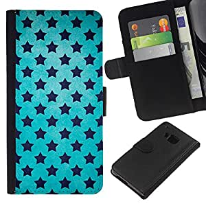 All Phone Most Case / Oferta Especial Cáscara Funda de cuero Monedero Cubierta de proteccion Caso / Wallet Case for HTC One M9 // Stars Universe Wallpaper Blue Sky Black