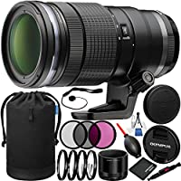 Olympus M.Zuiko Digital ED 40-150mm f/2.8 PRO Lens Bundle with Manufacturer Accessories & Accessory Kit (20 Items)