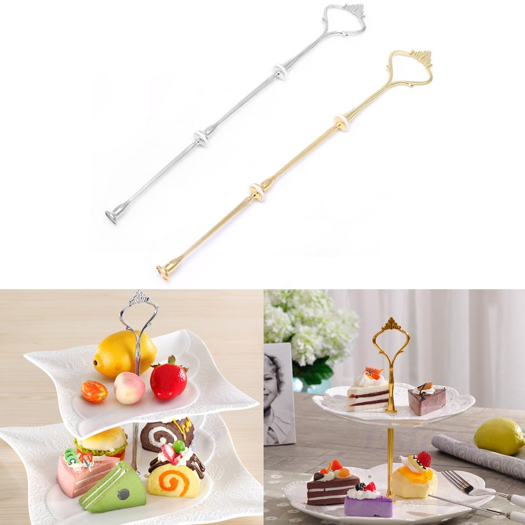 LING'S SHOP 2/3 Tier Stainless steel Cupcake Stand Cake Fruits Desserts Display Tower for Wedding Birthday Party Home (3 Layer, Gold) by LING'S SHOP (Image #9)