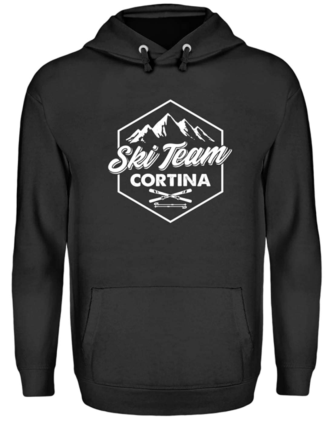 EBENBLATT Apres Ski Cortina Team Skiurlaub Geschenk Geschenkidee für Ski Fahrer - Unisex Kapuzenpullover Hoodie
