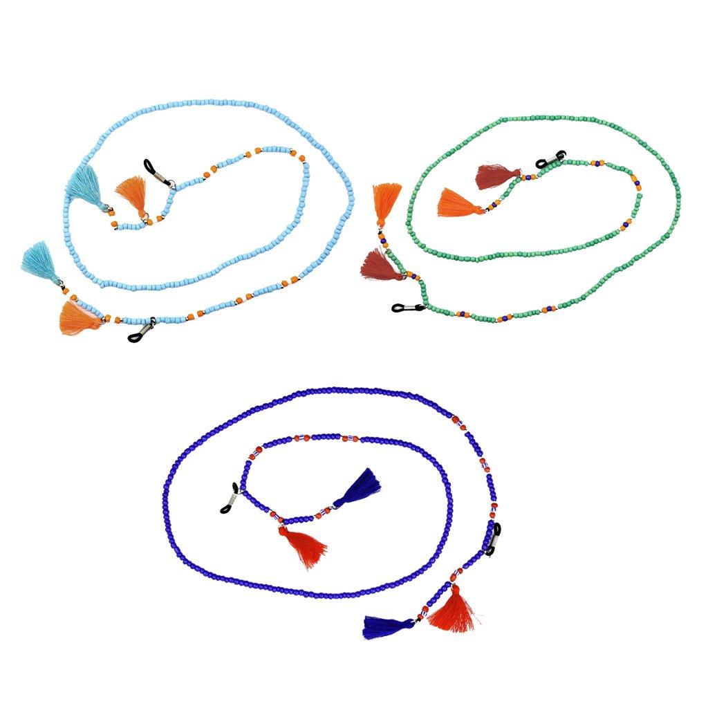P Prettyia 2x Brillenb/änder Brillenhalskette Brillenkette Halskette Perfekt f/ür Reisen Ausfl/üge Sch/öne Design
