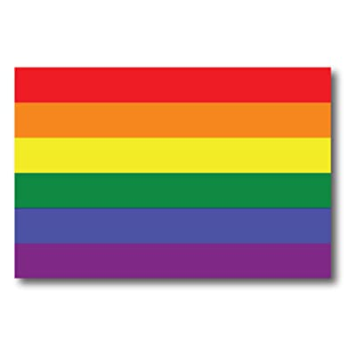 Gay Pride Rainbow Flag Car Magnet Decal - LGBT - 4x6 - Waterproof Lesbian Gay Bisexual Transexual: Automotive