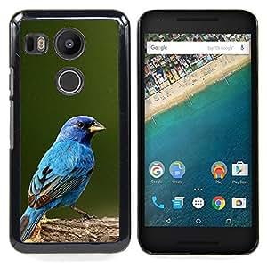 """For LG GOOGLE NEXUS 5X H790 Case , Azul Songbird Blue Spring Green Nature"""" - Diseño Patrón Teléfono Caso Cubierta Case Bumper Duro Protección Case Cover Funda"""