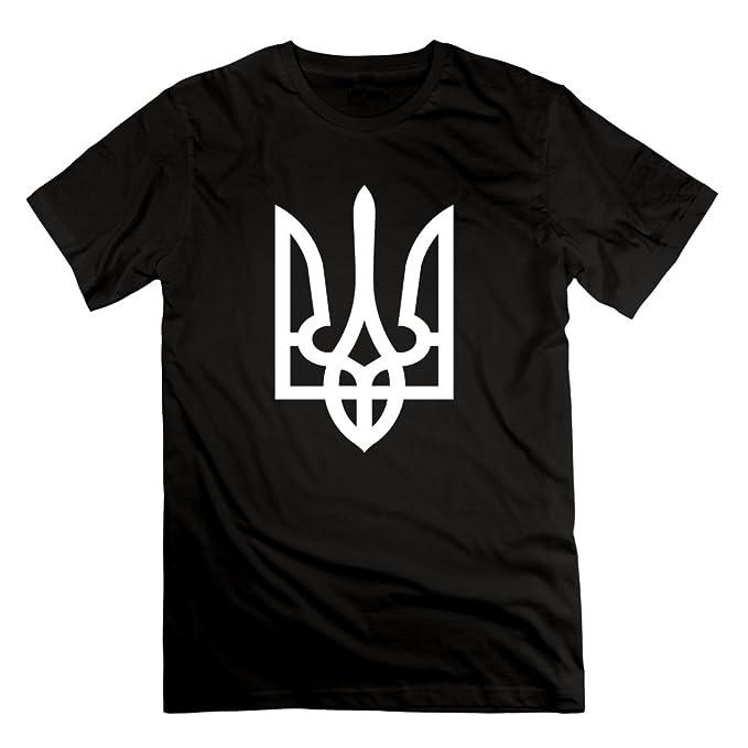 Ukrainian Trident Tryzub Ukrainian Symbol T Shirt Black For Mans