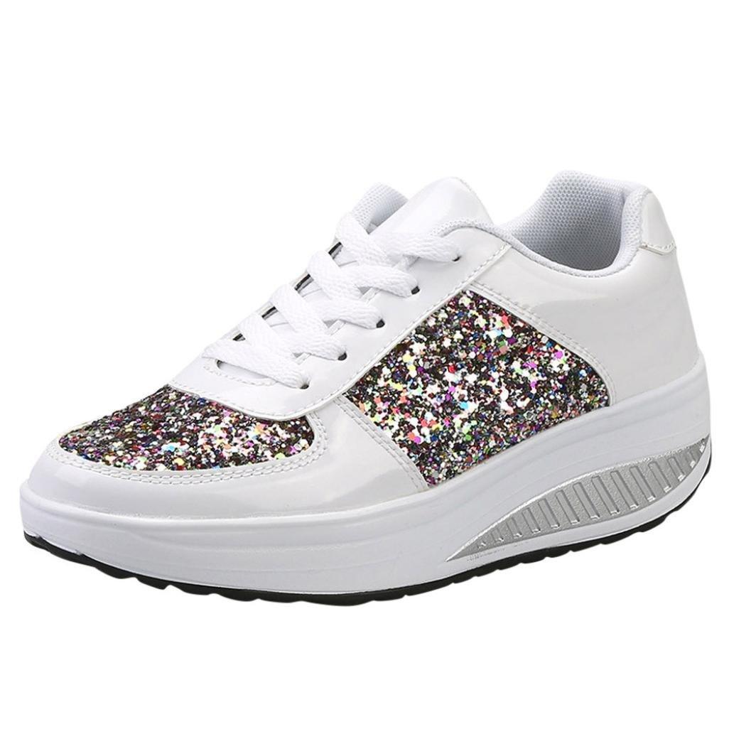 Zapatillas de deporte de mujer, Covermason Ladies Sequins Shake Sneakers: Amazon.es: Ropa y accesorios