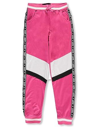Pink Velvet Tricot Joggers - Pantalón de chándal para niña - Rosa ...