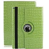 iPad 2 Case,elecfan New 360 Degrees Rotating Stand Smart Case Cover Polka Dot Pattern Case for iPad 2,iPad 3,iPad 4 9.7 inch (iPad 2/3/4, Green)