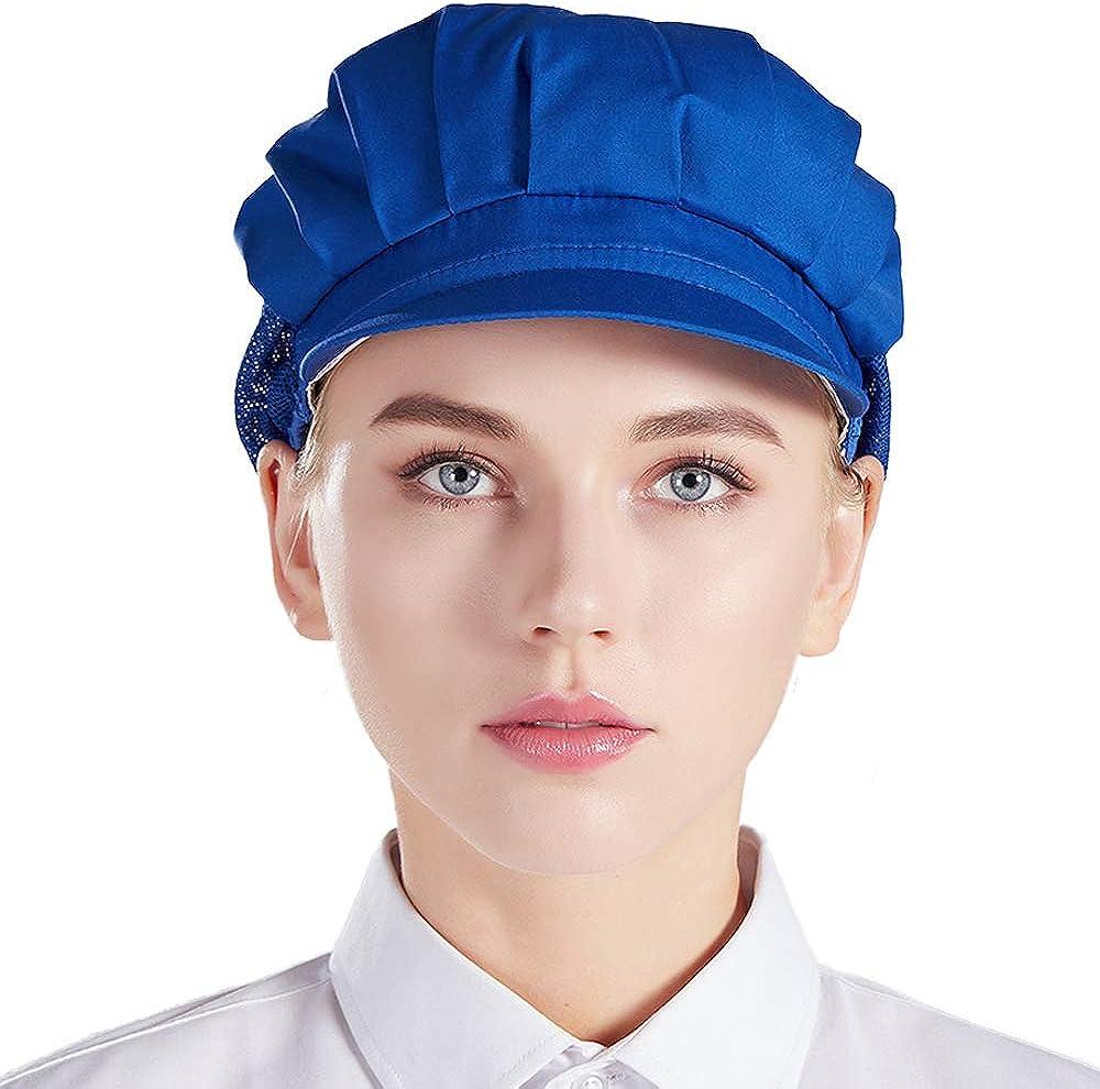 Nanxson 3 pcs B/éret de Cuisinier Chapeau Unisexe avec Maille Travailler pour Cuisine Restauration Boulangerie CF9033