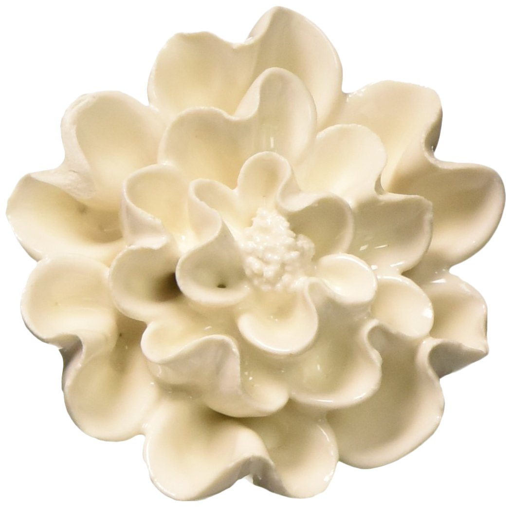 Abbott Collection Home 27-HOME/13 IVORY Sculpted Flower Knob CNGCHI