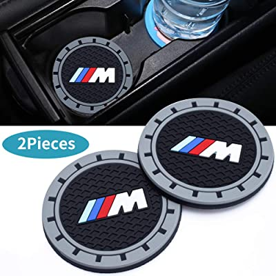 ChuangWanYue 2PC 2.75 Tough Car Logo Vehicle Travel Auto Cup Holder Insert Coaster Can for BMW 1 3 5 7 Series F30 F35 320li 316i X1 X5 X6 (X3 /X4 /5/7/M Series): Automotive