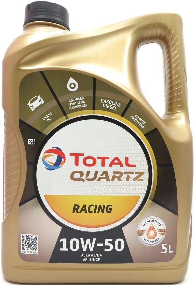 Total Quartz Racing 10 W 50 Motoröl 5 Liter Auto