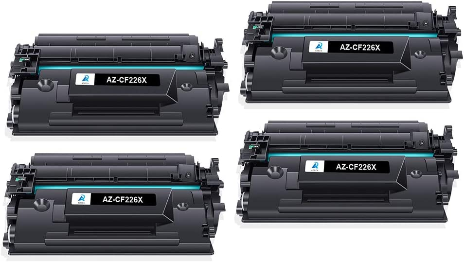 Aztech Compatible Toner Cartridge Replacement for HP 26X CF226X 26A CF226A Laserjet Pro M402n M402dw M402dn Laserjet Pro MFP M426fdw M426fdn M426dw (Black, 4-Pack)
